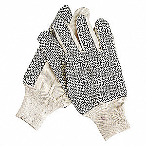 GLOVES CANVAS COTTON S WHITE PR