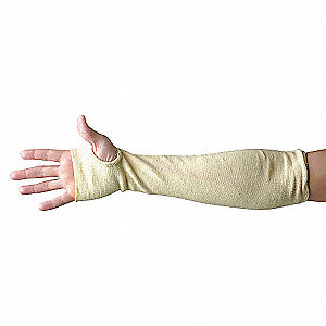 SLEEVE CUT KEVLAR/COT THUMB YW 14IN