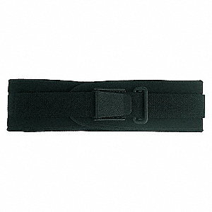 BACK SUPPORT 4 IN WDE NYLON BLK L