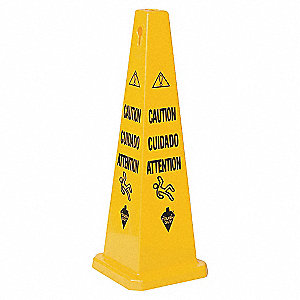 36IN MULTILINGUAL CAUTION YELLOW