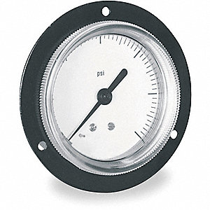 PANEL PRESSURE GAUGE,FLANGE,2 IN,60