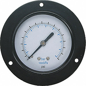 PANEL GAUGE, FRONT FLANGE,2 1/2 IN,