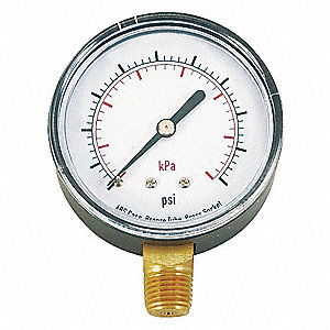 PRESSURE GAUGE,63 MM,300 PSI,LOWER