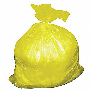 55 gal. Super Heavy Trash Bags, Yellow, Cored Roll of 50