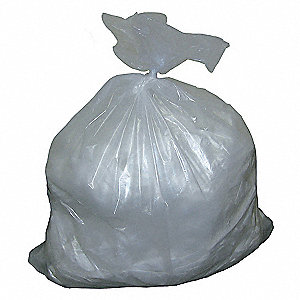55 gal. Clear Trash Bags, Contractor Strength Rating, Cored Roll, 50 PK