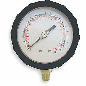 PRESSURE GAUGE,4 IN,15 PSI,LOWER,BL