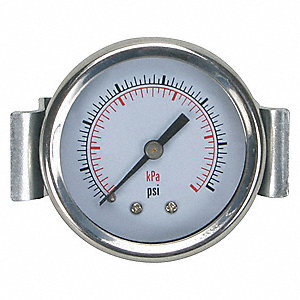 PANEL PRESSURE GAUGE,U CLAMP,2 IN,1