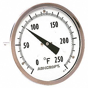 BIMETAL THERMOM,2 IN DIAL,-20 TO 12