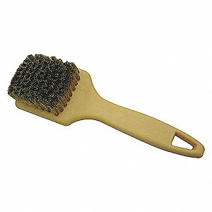 TIRE CLEANING BRUSH, BRASS, PPL, 9-