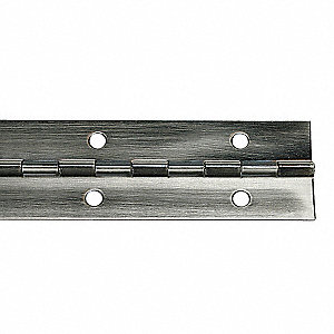 PIANO HINGE,PEWTER,72 L X 1 1/16 IN