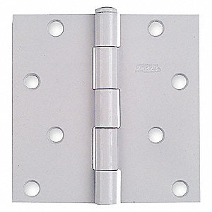 SQUARE CORNER HINGE,FULL MORTISE,ST