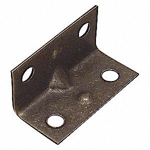 CORNER BRACE,STEEL,3/4 WX1-1/2 IN L
