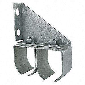 BRACKET,DOUBLE RAIL,STEEL,L 5 3/4 I