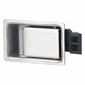 PADDLE LATCH,SILVER,H 1 3/32 IN