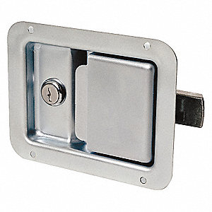 PADDLE LATCH,SILVER,H 4 1/4 IN