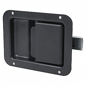 PADDLE LATCH,BLACK,H 3 5/8 IN