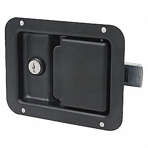 PADDLE LATCH,BLACK,H 4 1/4 IN