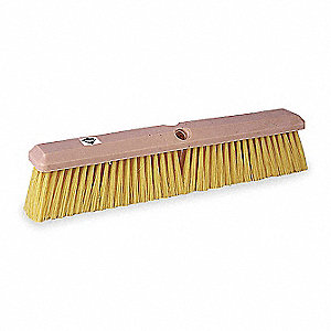PUSH BROOM,YLW SYNTHETIC,GNRL-PURPO