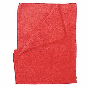 MICROFIBER CLOTH,RED,PK 12
