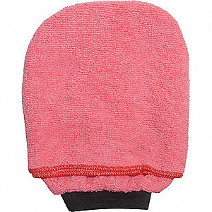 CLEANING MITT, MICROFIBER, RED
