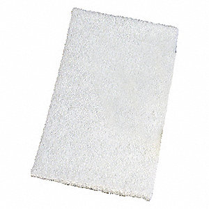 SCOURING PAD,WHITE,6IN L,4IN W,PK20