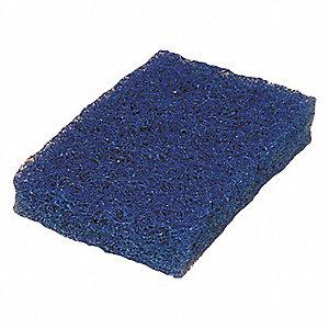 SCOURING PAD,BLUE,6IN L,3-1/2IN W,P