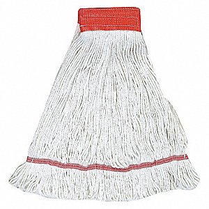 WET MOP,ANTIMICROBIAL,LARGE,WHITE