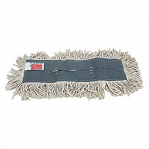 DUST MOP,CUT END,SZ 24 IN,WHITE