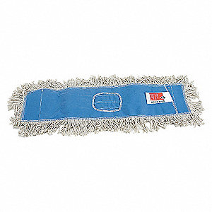 DUST MOP,CUT END,SZ 36 IN,WHITE/BLU