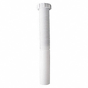 TAILPIECE,PLASTIC,PIPE DIA 1 1/2 IN