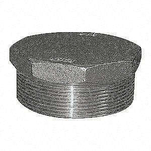 HEX PLUG,1/2 IN,THREADED,316 SS