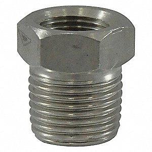 HEX REDUCING BUSHING,2 X 1 IN,304 S