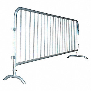 BARRIER RAILING,LENGTH 96 IN,STEEL