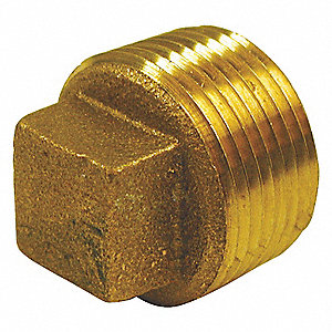 CORED PLUG,RED BRASS,2 IN,150 PSI