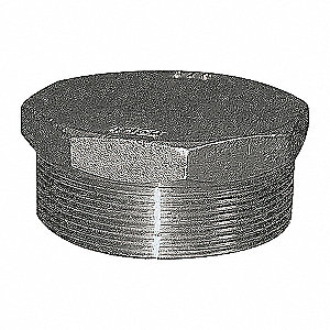 HEX PLUG,1 1/2 IN,304 SS,150 PSI