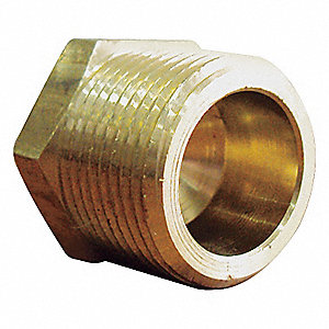 HEX HEAD PLUG,BRASS,3/4 IN,PK 5