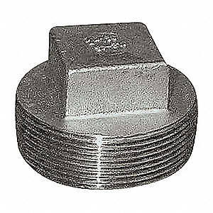 SQUARE HEAD PLUG,4 IN,304 SS,150 PS