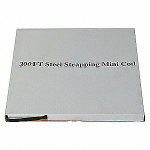 STEEL STRAPPING,1/2 IN,L 300 FT