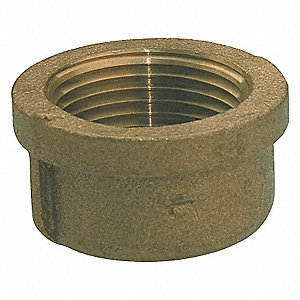 CAP,1/2IN,NO LEAD RED BRASS