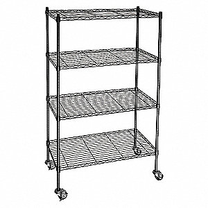 WIRE CART, 4 SHELF,L48 X W24 X H67