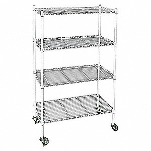 WIRE CART, 4 SHELF,L60 X W24 X H67