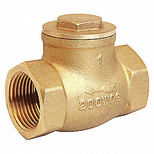 SWING CHECK VALVE,3/4IN,FNPT,BRASS