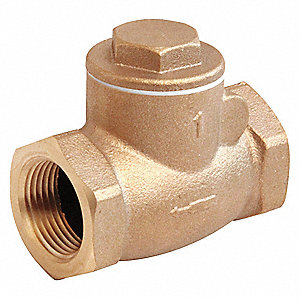 SWING CHECK VALVE,1/4IN,FNPT,BRONZE