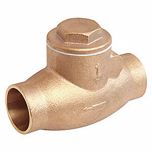 SWING CHECK VALVE,1/2IN,SOLDER,BRON