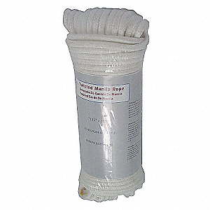 POLYESTER ROPE,DIA 1/4 IN,LENGTH 10