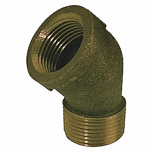 STREET ELBOW,45DEG RED BRASS,1/8 IN