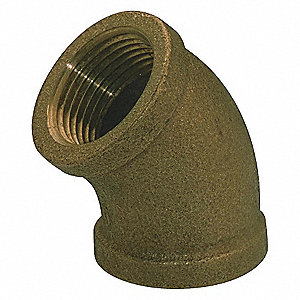 ELBOW,45DEG RED BRASS,3/8 IN,150 PS