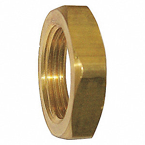 BRASS LOCKNUT,1/4 IN,FNPT