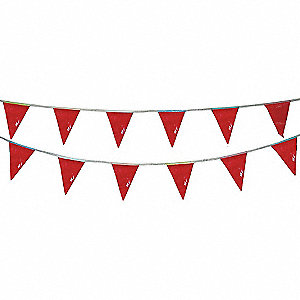 PENNANTS,VINYL,RED,60 FT.