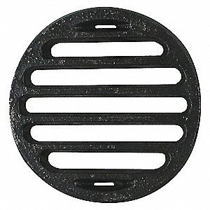 SHOWER DRAIN GRID,PIPE DIA 4 IN,CI